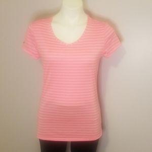 Danskin Women's Pink Striped Top, size Medium.